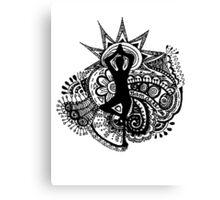 """Namaste"" Yoga Doodle Canvas Print"