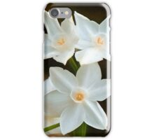 Paper white Flowers iPhone Case/Skin