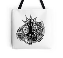 """Namaste"" Yoga Doodle Tote Bag"