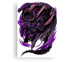 Black Eclipse Wyvern Canvas Print