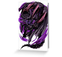 Black Eclipse Wyvern Greeting Card