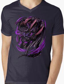 Black Eclipse Wyvern Mens V-Neck T-Shirt