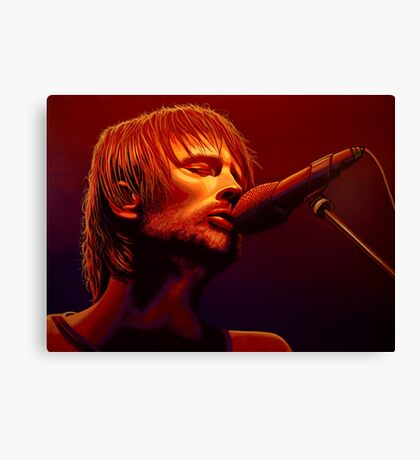 Thom Yorke of Radiohead Painting Canvas Print