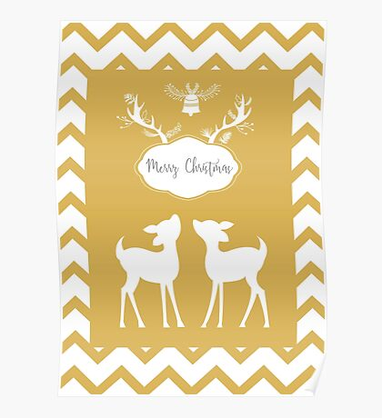 Bambi Christmas background. Poster