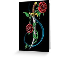 A thorn among the roses  Greeting Card