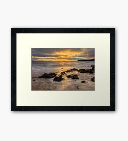 Mountcharles Sunset Framed Print
