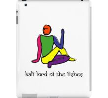 Half lord of the fishes yoga pose Sanskrit iPad Case/Skin