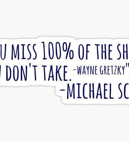 michael scott Sticker
