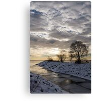 Broken Ice, Broken Clouds Canvas Print