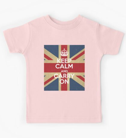 Keep Calm And Carry On Kids Tee