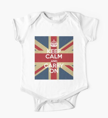 Keep Calm And Carry On One Piece - Short Sleeve