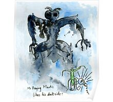 Mr. praying mantis and his shadow Poster