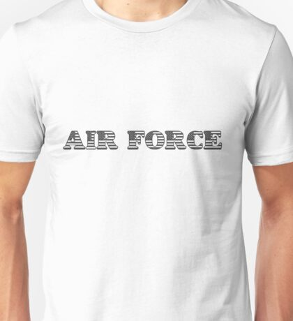 Air Force Stars and Stripes Text Unisex T-Shirt