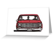 MMM DROP in red Greeting Card