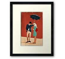 Broadway Bus Stop Framed Print