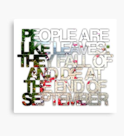 People are like leaves (version a) Canvas Print