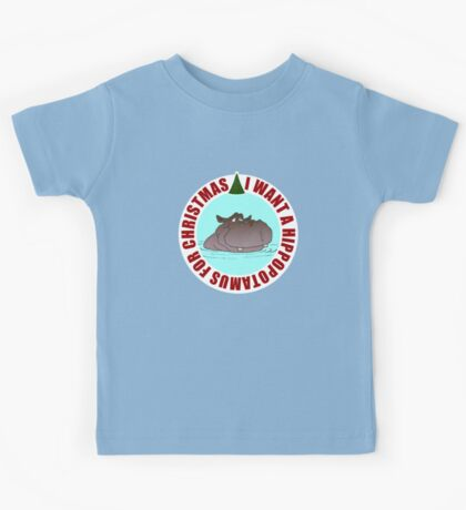 Hippopotamus for Christmas Kids Tee