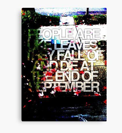 People are like leaves (version c) Canvas Print