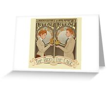 Lutece Twins Nouveau Greeting Card