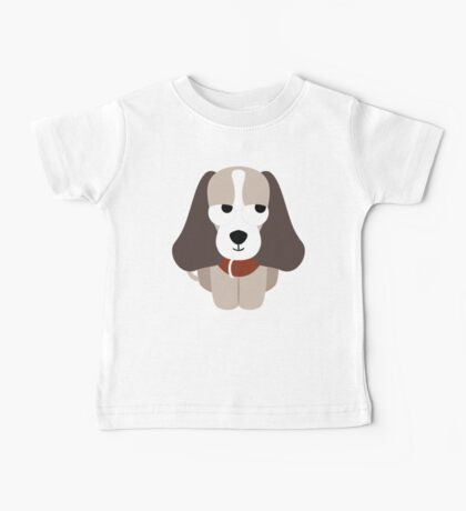 Beagle Dog Emoji Thinking Hard and Hmm Face Baby Tee