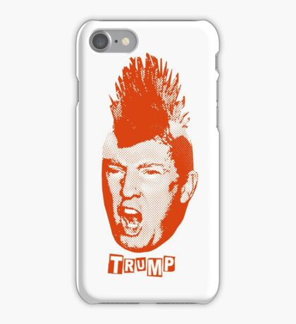 Trump Is The New Punk (Red Graphic) iPhone Case/Skin