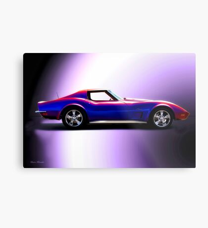C3 Corvette Stingray 'Studio Profile' Metal Print