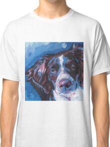 Brittany Spaniel Bright colorful pop dog art Classic T-Shirt