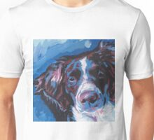 Brittany Spaniel Bright colorful pop dog art Unisex T-Shirt