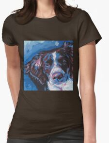 Brittany Spaniel Bright colorful pop dog art Womens Fitted T-Shirt
