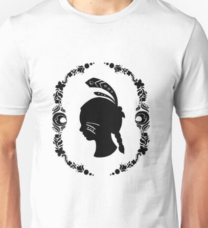 Native American Girl Silhouette Unisex T-Shirt