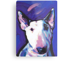 Bull Terrier Dog Bright colorful pop dog art Metal Print