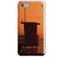 Lifeguard Tower At Sunset iPhone Case/Skin
