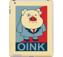 "Waddles Oink- ""Hope"" Poster Parody iPad Case/Skin"