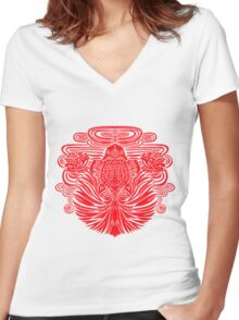 Red Goldfish Women's Fitted V-Neck T-Shirt