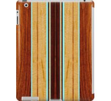 Nalu Hou Faux Koa Wood Hawaiian Surfboard - Aqua iPad Case/Skin