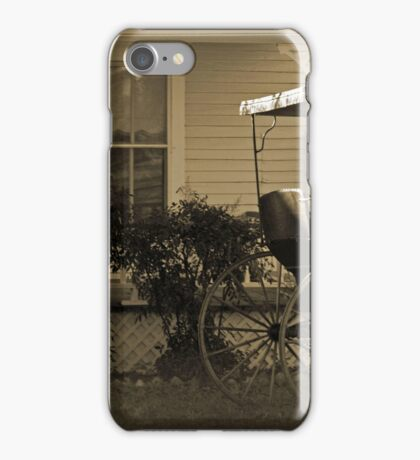 Old house and wagon iPhone Case/Skin