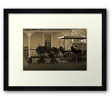 Old house and wagon Framed Print