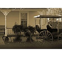 Old house and wagon Photographic Print