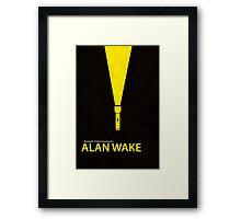 Alan Wake Minimal Poster Framed Print