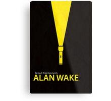 Alan Wake Minimal Poster Metal Print