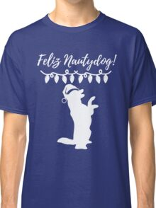 Feliz Naughtydog Christmas Dog Classic T-Shirt