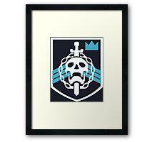 Destiny Raid Trophy Emblem Framed Print