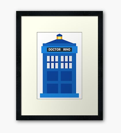 Doctor Who TARDIS Framed Print