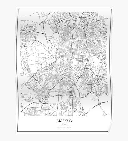 Madrid Minimalist Map Poster