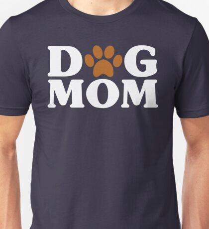 Dog Mom - Proud Puppy Mama Paw Print Unisex T-Shirt