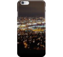 city lights from hilltop iPhone Case/Skin
