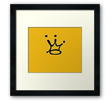 Graffiti Crown | Black Framed Print