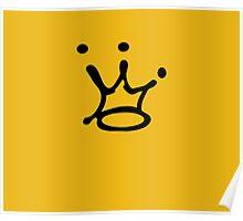 Graffiti Crown | Black Poster