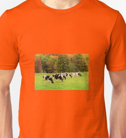 cows in the fall Unisex T-Shirt
