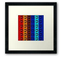 Red vs. Blue (group one) Framed Print